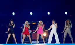 The Spice Girls perform during the closing ceremony of the London 2012 Olympic Games at the Olympic Stadium, August 12, 2012. REUTERS/Stefan Wermuth