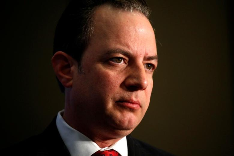 Republican National Committee Chairman Reince Priebus listens to a question during an interview in Washington May 6, 2016.REUTERS/Kevin Lamarque