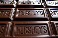 A Hershey's chocolate bar is shown in this photo illustration in Encinitas, California, U.S. January 29, 2015.  REUTERS/Mike Blake/File Photo