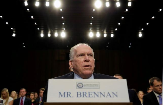 CIA Director John Brennan testifies before the Senate Intelligence Committee hearing on ''diverse mission requirements in support of our National Security'', in Washington, U.S., June 16, 2016. REUTERS/Yuri Gripas
