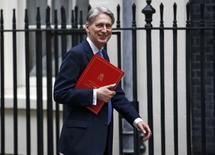 Le nouveau chancelier de l'Echiquier, Philip Hammond, a promis jeudi de faire tout le nécessaire pour stabiliser l'économie et restaurer la confiance après le vote des Britanniques en faveur de la sortie du Royaume-Uni de l'Union européenne lors du référendum du 23 juin dernier. /Photo prise le 5 juillet 2016/REUTERS/Peter Nicholls
