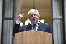 Глава британского МИД Борис Джонсон выступает перед сотрудниками МИД в Лондоне. 14 июля 2016 года. Новый министр иностранных дел Великобритании Борис Джонсон сказал в четверг, что страна может играть ещё более значимую роль в Европе, несмотря на решение проголосовать за выход из Европейского союза, выразив мнение, которое, по его словам, разделяют США. REUTERSAndrew Matthews/Pool