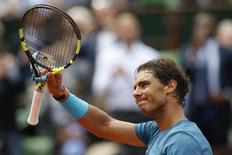 Tenista Rafael Nadal após partida em Roland Garros, França.      16/05/2016       REUTERS/Pascal Rossignol