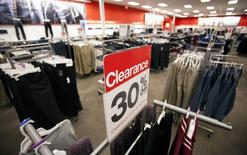 A sale sign is seen inside a Target store in Delta, British Columbia January 15, 2015. REUTERS/Ben Nelms
