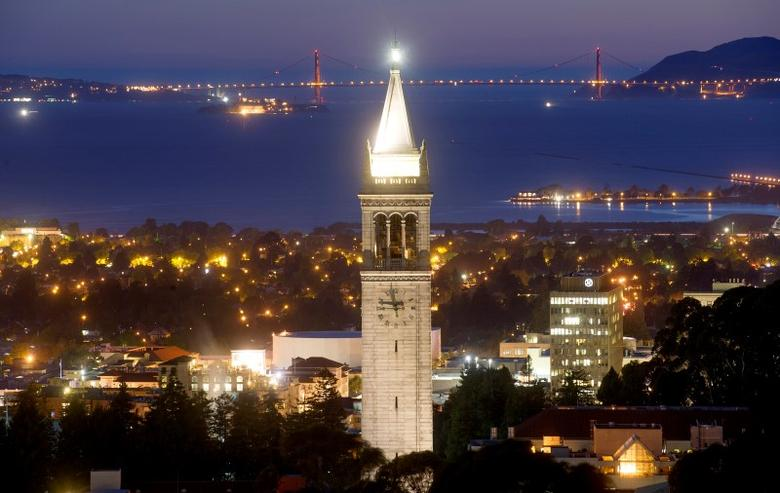 Sather Tower rises above the University of California at Berkeley campus in Berkeley, California, U.S. in this May 12, 2014 file photo.    REUTERS/Noah Berger/File Photo