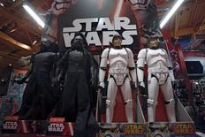 "Star Wars toys are seen at Toys ""R"" Us Times Square store during the early opening of the Black Friday sales in the Manhattan borough of New York, November 26, 2015. REUTERS/Andrew Kelly"