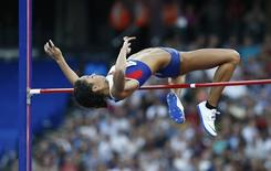Britain Athletics - 2016 London Anniversary Games - Queen Elizabeth Olympic Park, Stratford, London - 22/7/16 Great Britain's Katarina Johnson-Thompson in action during the Women's High Jump Reuters / Eddie Keogh Livepic