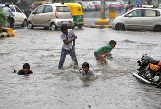 Rising waters in India