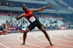 Britain Athletics - 2016 London Anniversary Games - Queen Elizabeth Olympic Park, Stratford, London - 22/7/16Jamaica's Usain Bolt celebrates after winning the Men's 200m Reuters / Eddie KeoghLivepic