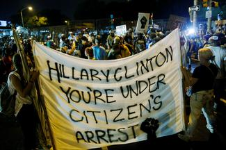 Protests outside the DNC