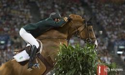 Brasileiro Pedro Veniss durante Jogos de Pequim-2008. 15/8/2008.   REUTERS/Caren Firouz