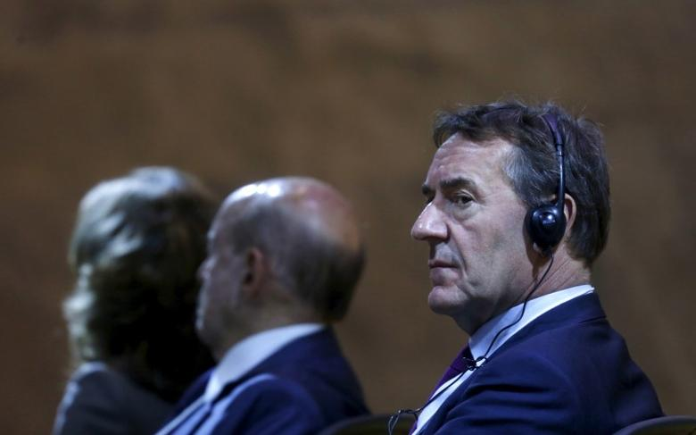 Britain's Commercial Secretary to the Treasury Jim O'Neill (R) attends the Twenty years of the Concession Law meeting in Rio de Janeiro, Brazil, October 5, 2015. REUTERS/Pilar Olivares