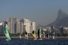 Velejadores treinam no Rio de Janeiro 12/7/2016 REUTERS/Bruno Kelly