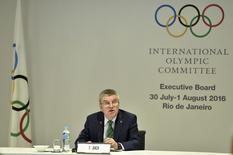 RIO DE JANEIRO, BRAZIL - JULY 30: IOC President Thomas Bach during the IOC Executive Board Meeting on July 30, 2016 in Rio de Janeiro, Brazil. REUTERS/Pascal Le Segretain/Pool