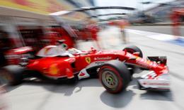 Carro da Ferrari visto durante Grande Prêmio da Hungria.    23/07/2016       REUTERS/Laszlo Balogh