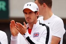 Britain Tennis - Serbia v Great Britain - Davis Cup Quarter Final - Tasmajdan Stadium, Belgrade, Serbia - 16/7/16 Great Britain's Andy Murray Action Images via Reuters / Jason Cairnduff