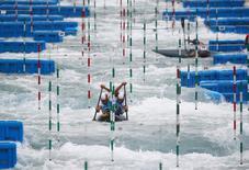 Treino de canoagem slalom para a Rio 2016. 03/08/2016 REUTERS/Ivan Alvarado
