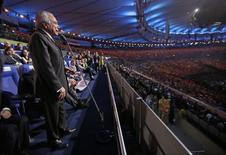 Michel Temer na cerimônia de abertura da Rio 2016. 5/8/2016. REUTERS/Mark Humphrey