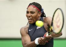 Tenista norte-americana Serena Williams durante partida contra Daria Gavrilova, da Austrália, na Olimpíada Rio 2016 07/08/2016 REUTERS/Kevin Lamarque