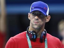 Nadador norte-americano Michael Phelps visita o local de provas da natação nos Jogos Rio 2016 no Rio de Janeiro 02/08/2016 REUTERS/Stefan Wermuth