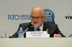 International Paralympic Committee (IPC) President Philip Craven speaks during a news conference in Rio de Janeiro, Brazil August 7, 2016 in this still image taken from video.  REUTERS/via Reuters TV