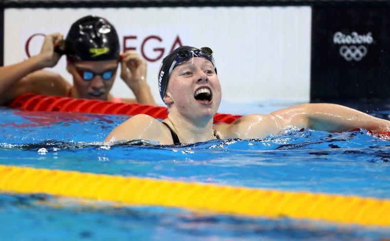 2016 rio olympics swimming final womens 100m breaststroke final olympic aquatics stadium rio de janeiro brazil 08082016