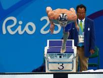 Nadador norte-americano Michael Phelps durante competição na Rio 2016.   08/08/2016      Rob Schumacher-USA TODAY Sports