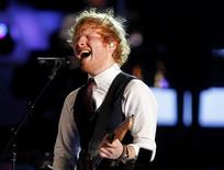 British singer Ed Sheeran performs at the MuchMusic Video Awards (MMVAs) in Toronto, June 21, 2015. REUTERS/Fred Thornhill