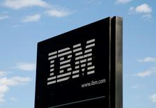 "The sign at the IBM facility near Boulder, Colorado September 8, 2009. International Business Machines Corp. repeated that it expects to earn ""at least"" $9.70 a share this year.  REUTERS/Rick Wilking"