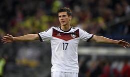 Goretzka durante jogo contra a Polônia. 13/5/2014.  REUTERS/Fabian Bimmer