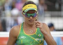 Larissa em ação na Rio 2016.  11/08/2016.  REUTERS/Ricardo Moraes
