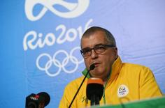 Diretor de comunicação do Comitê Rio 2016, Mario Andrada, em coletiva de imprensa no Rio de Janeiro  06/08/2016 REUTERS/Tony Gentile