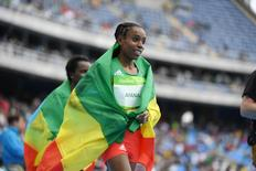 Fundista etíope Almaz Ayana 12/8/2016 James Lang-USA TODAY Sports