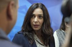 Israel's Culture Minister Miri Regev arrives to the weekly cabinet meeting in Jerusalem June 21, 2015. REUTERS/Dan Balilty/Pool