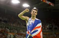 2016 Rio Olympics - Artistic Gymnastics - Final - Men's Pommel Horse Final - Rio Olympic Arena - Rio de Janeiro, Brazil - 14/08/2016. Max Whitlock (GBR) of Britain celebrates after winning. REUTERS/Mike Blake