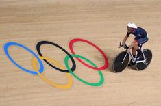 2016 Rio Olympics - Cycling Track - Preliminary - Men's Omnium 4km Individual Pursuit - Rio Olympic Velodrome - Rio de Janeiro, Brazil - 14/08/2016. Mark Cavendish (GBR) of Britain.  REUTERS/Eric Gaillard
