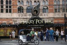 A bicycle-taxi passes The Palace Theatre where the Harry Potter and The Cursed Child play is being staged, in London, Britain July 29, 2016.  REUTERS/Peter Nicholls