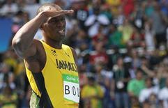 Jamaicano Usain Bolt durante eliminatórias dos 200 metros da Rio 2016 16/08/2016 REUTERS/Phil Noble