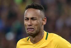 Neymar, após cobrança de pênalti  20/08/2016 REUTERS/Marcos Brindicci