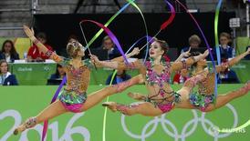 Сборная России по художественной гимнастике на Олимпиаде в Рио-де-Жанейро 21 августа 2016 года. Олимпийская сборная России показала четвертый результат в медальном зачете на завершившихся в воскресенье Играх в Рио-де-Жанейро, завоевав два золота и серебро в последних день соревнований.REUTERS/David Gray