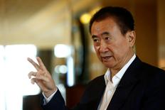 Wang Jianlin, chairman of the Wanda Group, speaks during an interview in Beijing, China, August 23, 2016. Picture taken August 23, 2016. REUTERS/Thomas Peter
