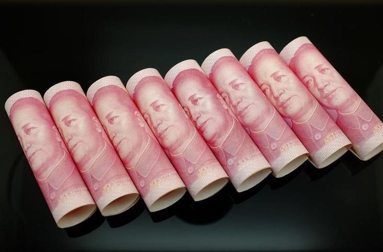 2013年11月5日,图为百元面值的人民币纸币。REUTERS/Jason Lee