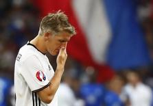 Germany's Bastian Schweinsteiger reacts after the game. Germany v France - EURO 2016 - Semi Final - Stade Velodrome, Marseille, France - 7/7/16. REUTERS/Kai Pfaffenbach Livepic