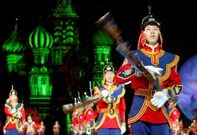Military music on the Red Square