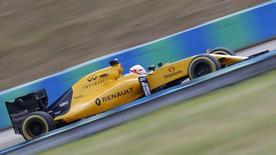 Hungary Formula One - F1 - Hungarian Grand Prix 2016 - Hungaroring, Hungary - 22/7/16 Renault's Jolyon Palmer during practice REUTERS/Laszlo Balogh