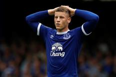 Everton's Ross Barkley looks dejected. Football Soccer Britain - Everton v Stoke City - Premier League - Goodison Park - 27/8/16. Action Images via Reuters / Ed Sykes Livepic