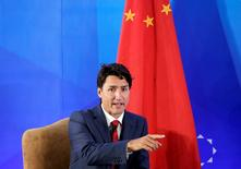 Canada's Prime Minister Justin Trudeau attends the China Entrepreneur Club Leaders Forum in Beijing, China, August 30, 2016. REUTERS/Jason Lee