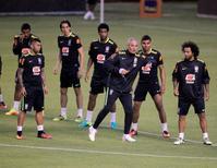 Tite comanda treino do Brasil no Equador.  29/8/16.   REUTERS/Kevin Granja