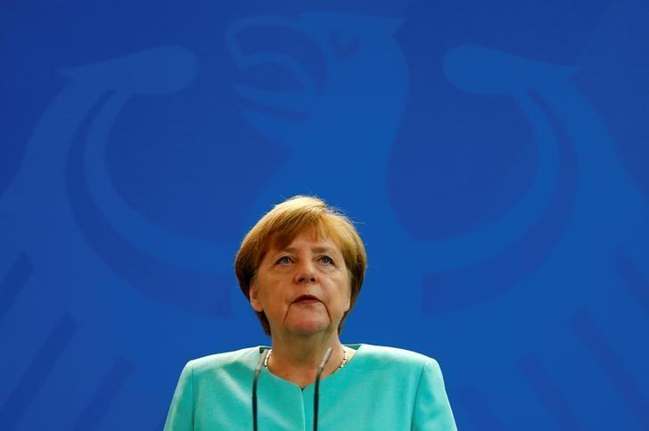 German Chancellor Angela Merkel gives a statement in Berlin, Germany, June 24, 2016. REUTERS/Hannibal Hanschke/Files
