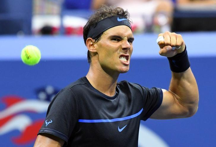 Aug 31, 2016; New York, NY, USA; Rafael Nadal of Spain after beating Andreas Seppi of Italy on day three of the 2016 U.S. Open tennis tournament at USTA Billie Jean King National Tennis Center. Mandatory Credit: Robert Deutsch-USA TODAY Sports